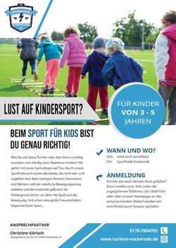 Flyer Kindersport